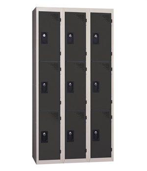 Vestiaire Multicases 3 Colonnes 3 portes Anthacite L300