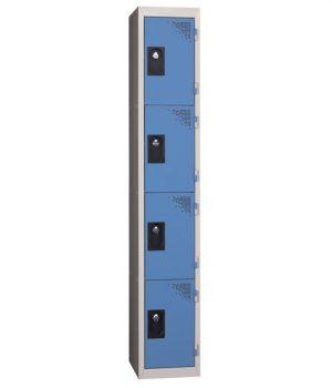 Vestiaire Multicases 1 Colonne de 4 Cases Vert L300