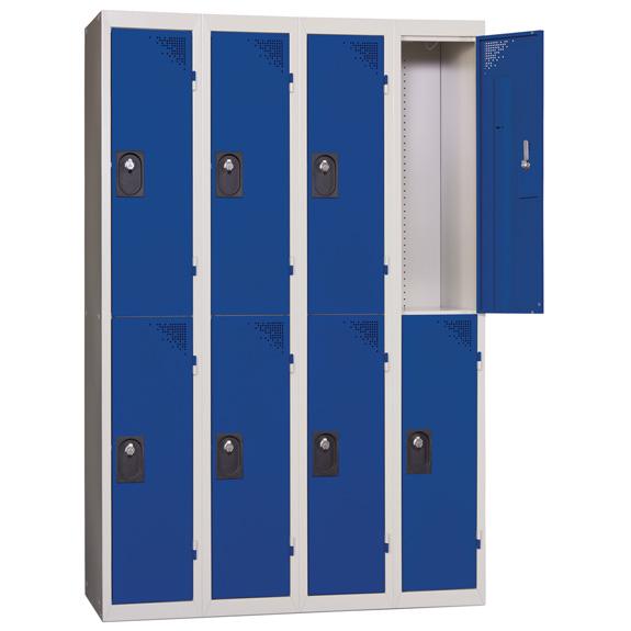 Vestiaire Multicases 4 Colonnes de 2 Cases Bleu L300