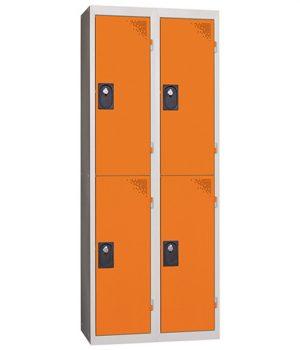 Vestiaire Multicases 2 Colonnes de 2 Cases Orange L400