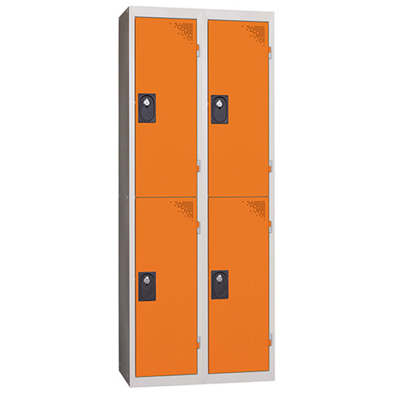 Vestiaire Multicases 2 Colonnes de 2 Cases Orange L400