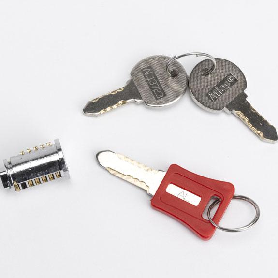 Serrure interchangeable avec clé passe pour Casier eXtreme ®