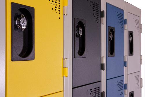 Vue détaillée Vestiaire Multicases 4 cases