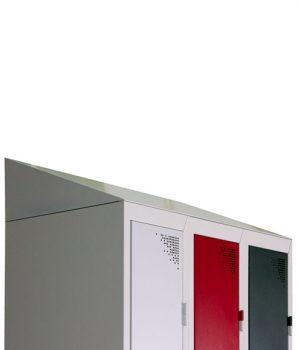 Coiffe Métallique pour Vestiaires WD/WM Largeur 900