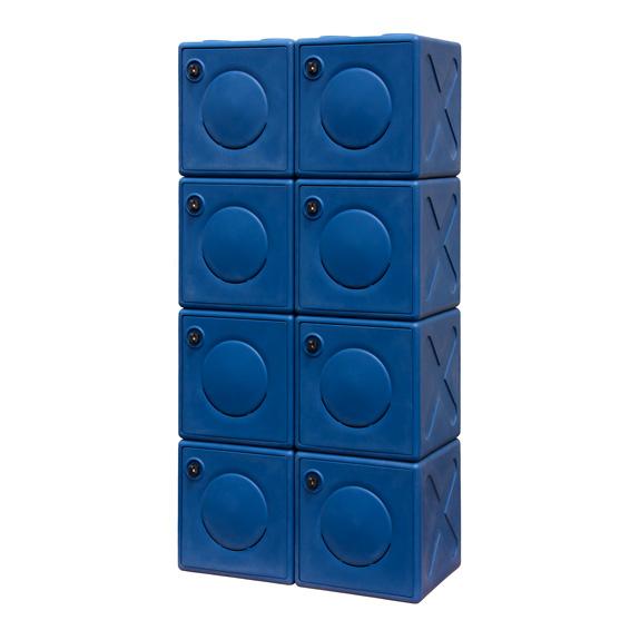 Double Colonne de Casier OonCub® bleu