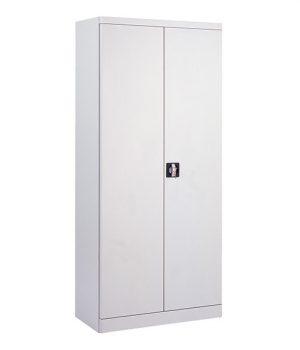 Armoire Haute Portes Battantes Monobloc grise