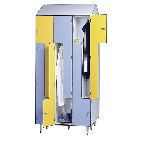 Vestiaire Monobloc Stratifié Compact Portes L