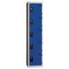 Vestiaire Multicases 1 Colonne 5 portes Bleues L400