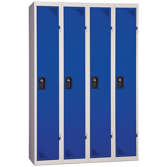 Vestiaire Industrie Propre 4 Colonnes Portes Bleues