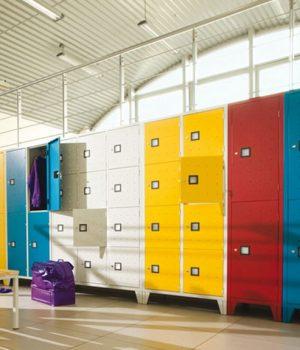 Vestiaire Multicases Quadri Monobloc 4 Cases insitu