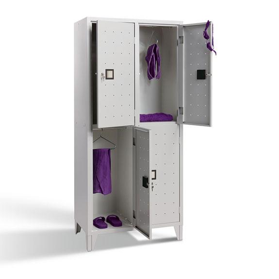 Vestiaire Multicases Quadri Monobloc 2 Cases gris