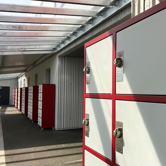 Vestiaire Casiers Scolaire Visitables Monobloc 2x5 Colonnes au Collège de Arnage