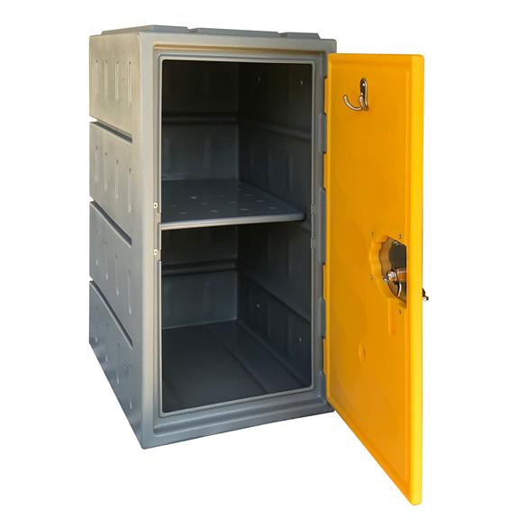 Casiers TOP 610 porte jaune ouverte